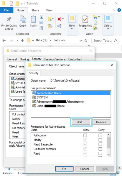DnnInstall 4b FolderSecurity Add