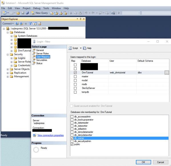 DnnInstall 5c ConfigureSql CreateUser UserMapping